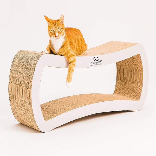 Pets Imperial® Pearled White King Cat Scratcher Lounger