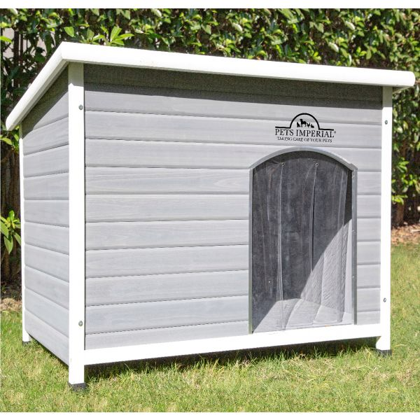 Pets Imperial® Grey Norfolk Insulated Dog Kennel Extra Large