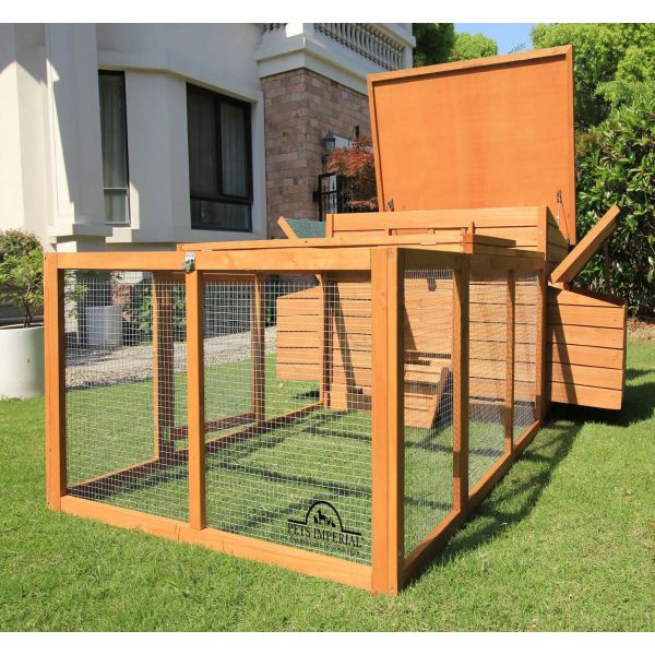 Pets Imperial® Balmoral Double Nest Box Chicken Coop With 1.4 m Run