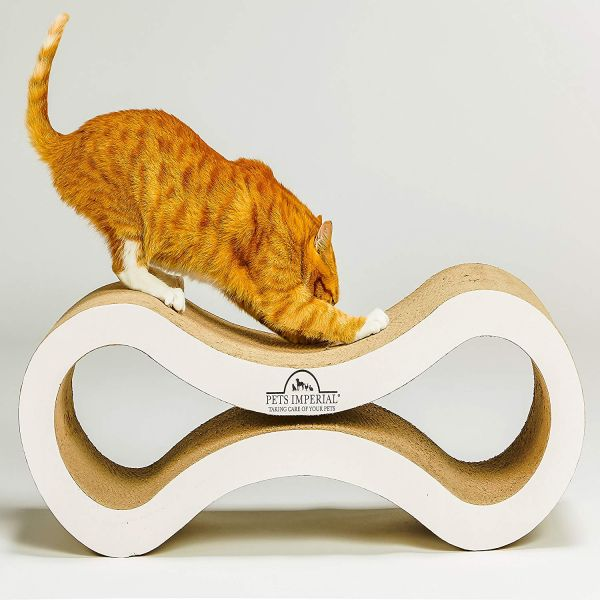 Pets Imperial® Pearled White Viscount Cat Scratcher Lounger